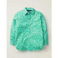Casual Laundered Shirt Green Girls Boden, Green