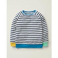 Long-sleeved Towelling T-shirt Blue Boys Boden, Blue