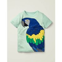 Bright Animal Textured T-shirt Blue Boys Boden, Blue