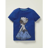 Colour-change Sequin T-shirt Blue Boys Boden, Blue