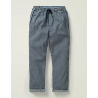 Summer Pull-on Trousers Blue Boys Boden, Blue