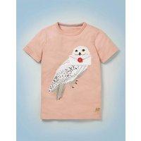 Hedwig Appliqué T-shirt Pink Boys Boden, Pink