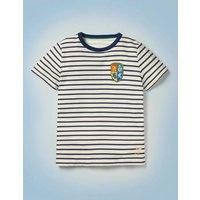 Hogwarts Breton T-shirt Blue Boys Boden, Blue