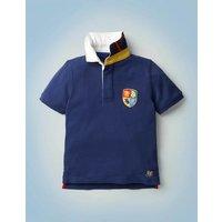 Hogwarts Heritage Rugby Shirt Blue Boys Boden, Blue