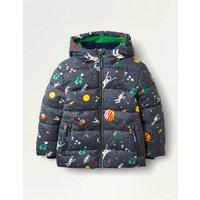 Shower-Resistant Padded Jacket Multi Boys Boden, Grey