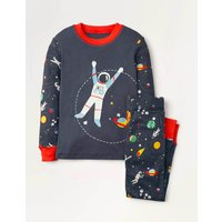 Cosy Long John Pyjamas Dark Grey Astronaut Boden, Dark Grey Astronaut
