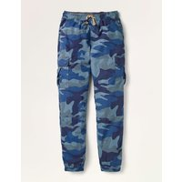 Lined Utility Cargo Trousers College Navy Camouflage Boys Boden, College Navy Camouflage