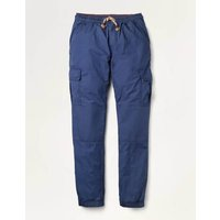 Lined Utility Cargo Trousers College Navy Boys Boden, College Navy