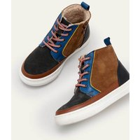 Leather Lace Up Boots Multi Boys Boden, Multicouloured
