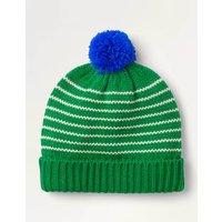 Knitted Striped Hat Green Boys Boden, Beige