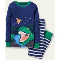 Cosy Long John Pyjamas Multi Boden, Blue