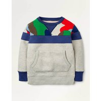 Cosy Shaggy-lined Sweatshirt Grey Marl Boys Boden, Grey Marl