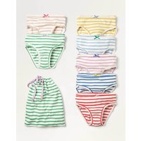 Pants 7 Pack Multi Girls Boden, Multicouloured