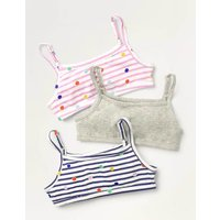 Crop Tops 3 Pack Multi Girls Boden, Multicouloured