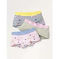 Shorties 3 Pack Multi Girls Boden, Multicouloured