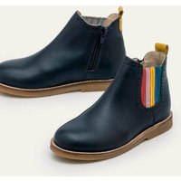 Leather Chelsea Boots College Navy Rainbow Boden, College Navy Rainbow.