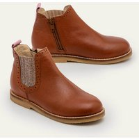 Leather Chelsea Boots Brown Girls Boden, Brown