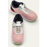 Suede Trainers Pink Girls Boden, Pink
