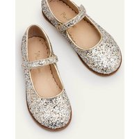 Party Mary Janes Metallic Girls Boden, Gold