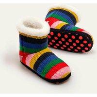 Knitted Slipper Boots Multi Girls Boden, Multicouloured