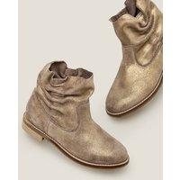 Suede Slouchy Boots Camel sparkle suede Girls Boden, Camel sparkle suede