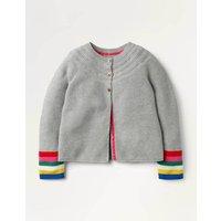 Cotton Cashmere Cardigan Grey Girls Boden, Grey