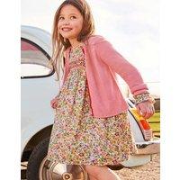 Cotton Cashmere Cardigan Pink Girls Boden, Pink