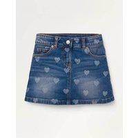 Five Pocket Denim Skirt Denim Girls Boden, Denim