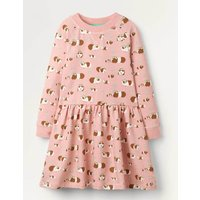 Jersey Printed  Dress Pink Girls Boden, Pink