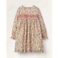 Smocked Dress Multi Girls Boden, Multicouloured