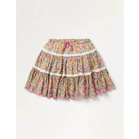 Lace Woven Twirly Skirt Multi Girls Boden, Multicouloured