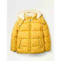 Cosy 2 in 1 Padded Jacket Yellow Girls Boden, Beige