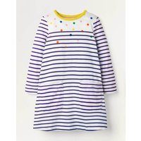 Fun Pocket Jersey Dress Multi Girls Boden, Navy