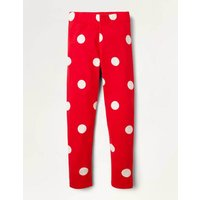 Fun Leggings Fire Red and Ivory Spot Boden, Fire Red and Ivory Spot.