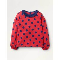 Winged Jersey Top Red Girls Boden, Red