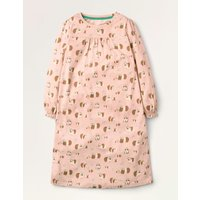 Printed Long-sleeved Nightie Pink Girls Boden, Pink