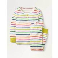 Snug Henley Pyjama Set Multi Girls Boden, Multicouloured