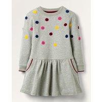 Cosy Mini Me Sweatshirt Dress Grey Christmas Boden, Grey