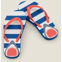 Gemusterte Flip-Flops Blue Jungen Boden, Blue
