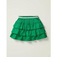 Jersey Ruffle Skort Green Girls Boden, Green