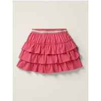 Jersey Ruffle Skort Pink Girls Boden, Camel