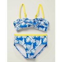 Frill Bikini Set Blue Girls Boden, Blue