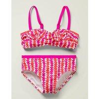 Frill Bikini Set Pink Girls Boden, Pink