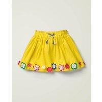 Hula Flutter Skirt Yellow Girls Boden, yellow