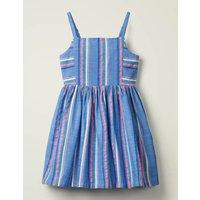 Johnnie B Stripe Woven Dress Blue Girls Boden, Blue