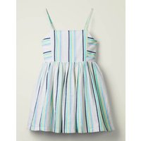 Stripe Woven Dress Multi Girls Boden, Pink