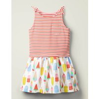 Hotchpotch Bow Jersey Dress Multi Girls Boden, Multicouloured