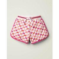 Sparkle Waist Jersey Shorts Pink Girls Boden, Pink