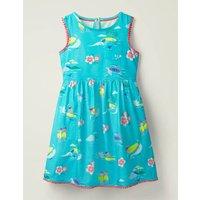 Pocket Detail Jersey Dress Blue Girls Boden, Blue