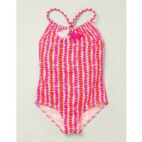 Fun Tassel Swimsuit Pink Girls Boden, Pink